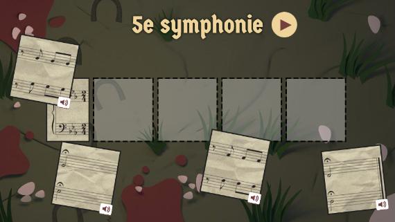 Google : Doodle Beethoven - 5e symphonie