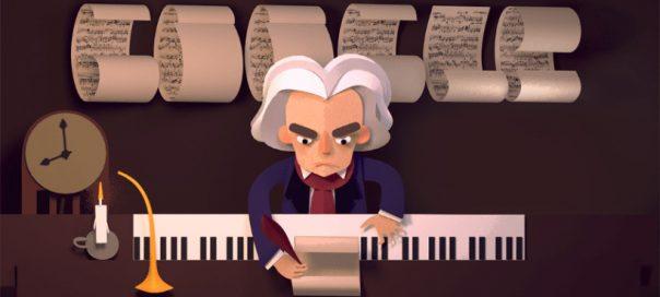 Google : Beethoven & ses chefs-d'oeuvre en doodle jeu