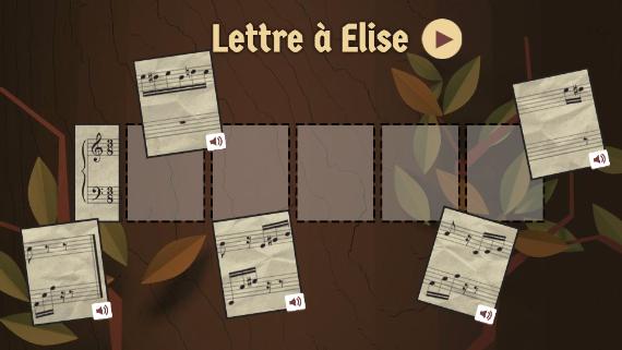 Google : Doodle Beethoven - Lettre à Elise