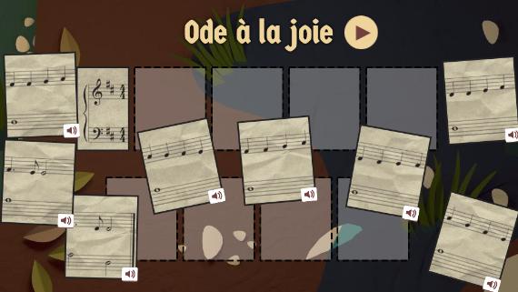 Google : Doodle Beethoven - Ode à la joie
