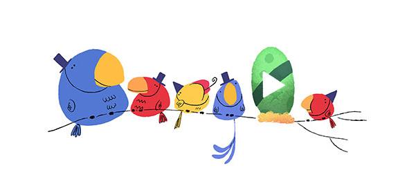 Google : Bonne année 2016 en doodle animé