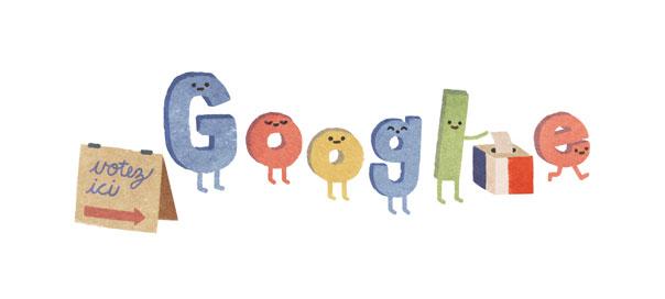 Google : Les élections régionales 2015 en doodle