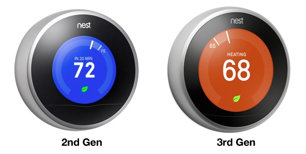 Thermostat Nest : Générations 2 & 3