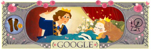 Google : Doodle Charles Perrault - La Belle au bois dormant