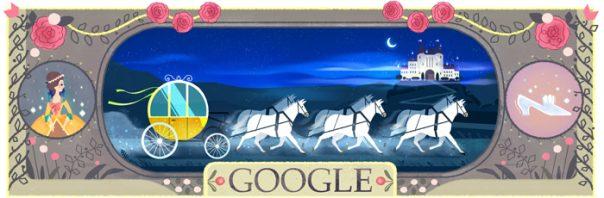 Google : Doodle Charles Perrault - Cendrillon ou la Petite Pantoufle de verre