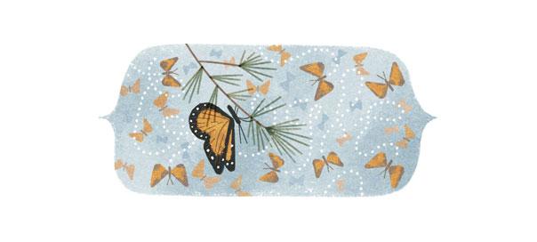Google : La réserve de biosphère du papillon Monarque en doodle