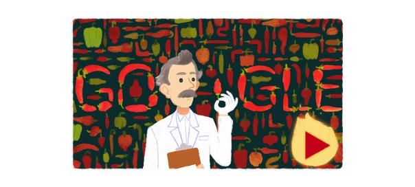 Google : Wilbur Scoville & la force des piments en doodle