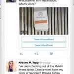 Twitter : Conversational ads - Tweet publié