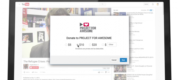 YouTube facilite les dons avec les « donation cards »