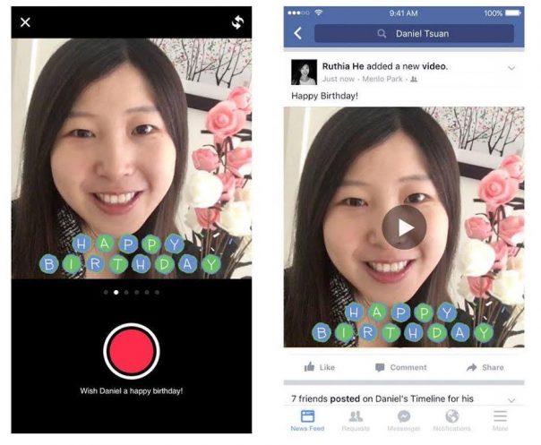 Facebook : Anniversaire en vidéo