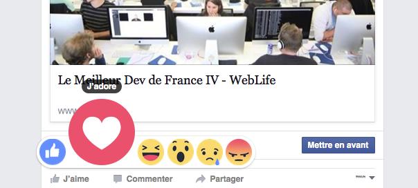 Facebook Reactions : Les likes personnalisés enfin disponibles