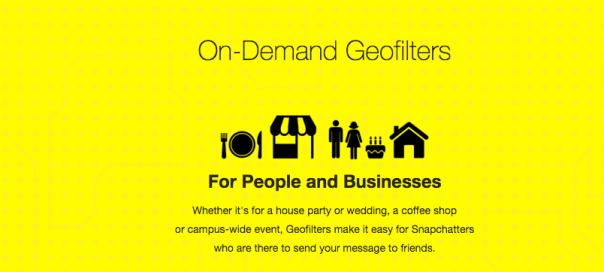 Snapchat : De nouveaux géofiltres à la demande
