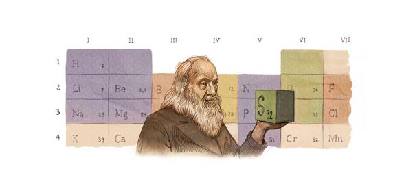 Google : Doodle Dmitri Mendeléiev