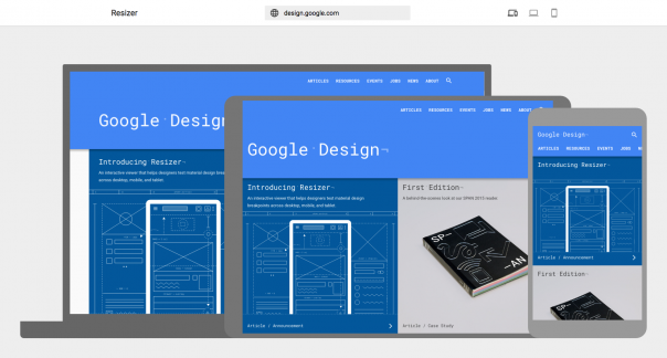Google Resizer : Site responsive - Devices