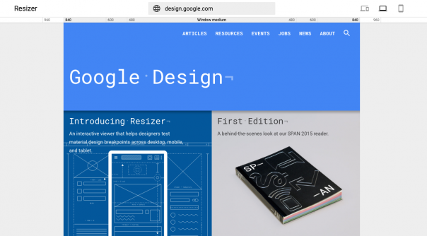 Google Resizer : Site responsive - Points de rupture