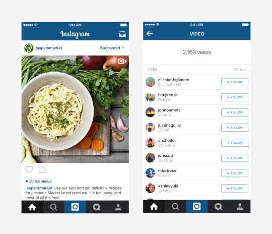 Instagram : Compteur de vues pour les vidéos