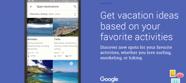 Google : Lancement de Destinations pour planifier vos voyages