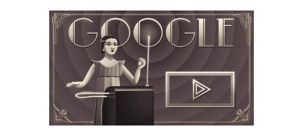 Google : Clara Rockmore et le thérémine en doodle jeu