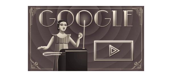 Google : Doodle Clara Rockmore & thérémine