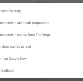 Google Now dévoile le blocage de source d'actualités