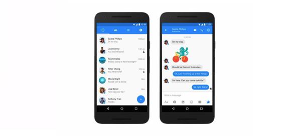 Facebook : Nouveau design pour Messenger