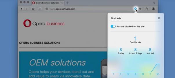 Opera : Un bloqueur de publicité nativement intégré