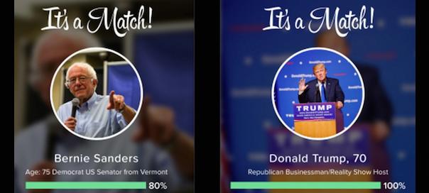 Tinder indique aux américains pour qui ils devraient voter