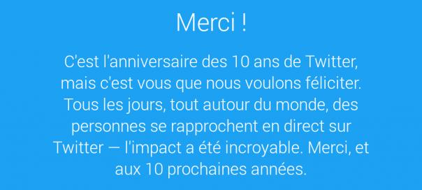 Twitter fête ses 10 ans !