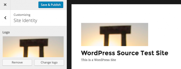 WordPress 4.5 : Personnaliser le logo d'un thème