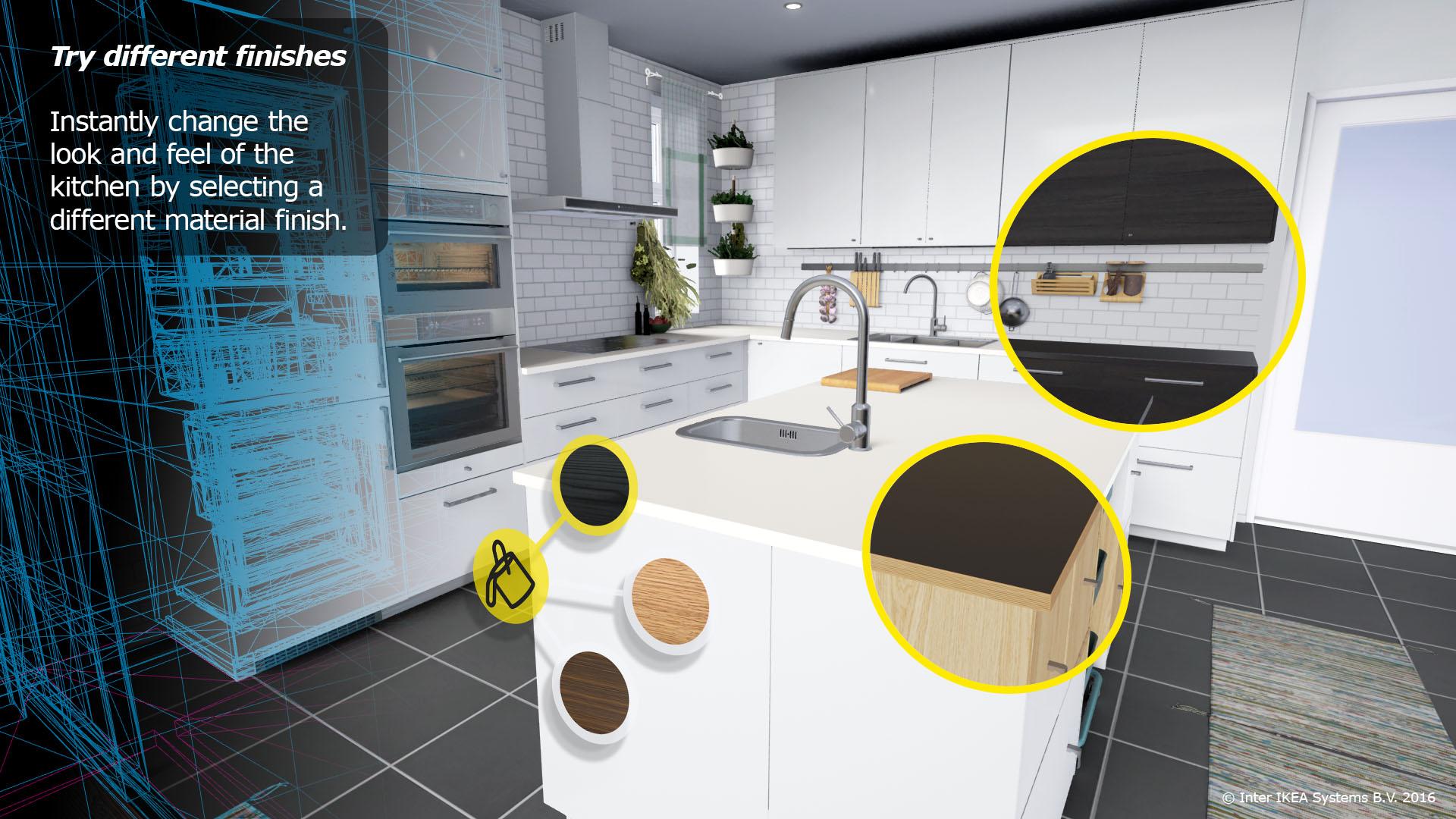 la r alit virtuelle pour visiter votre future cuisine ikea weblife. Black Bedroom Furniture Sets. Home Design Ideas
