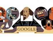 Google : William Shakespeare en doodle
