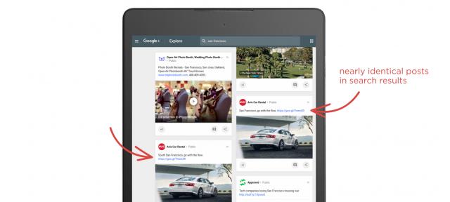 Google Plus : Doublons dans le moteur de recherche