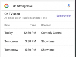 Google : Programme TV live