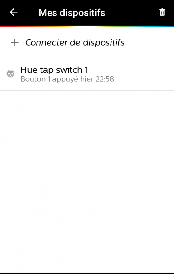 Philips Hue Tap paramétrage
