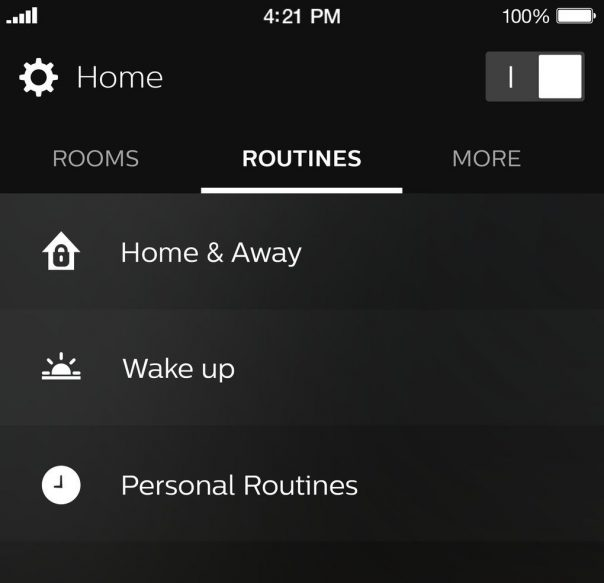 Philips Hue : Nouvelle application mobile - Routines