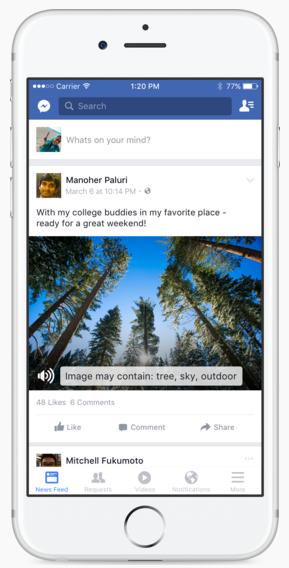 Reconnaissance vocale Facebook