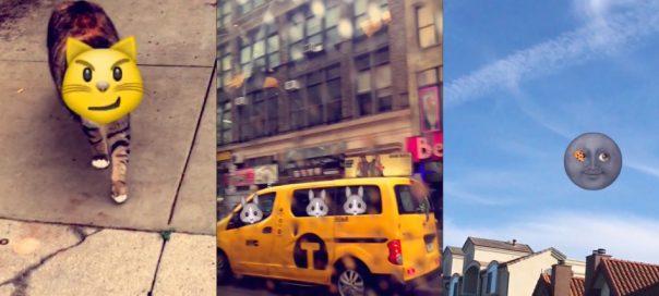 Snapchat : Les emojis sur des objets en mouvement dans les vidéos