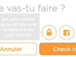 Swarm : Check-in privé