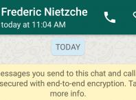 WhatsApp : Chiffrement des messages