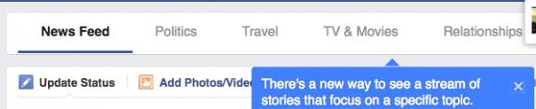 Facebook : Fil d'actualité - Filtres en détails