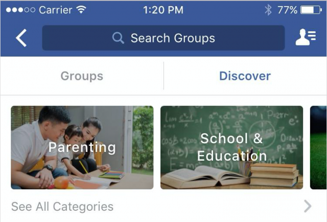 facebook groupes