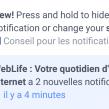 Facebook : Masquer les notifications sur l'app mobile