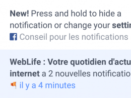 Facebook : Masquer les notifications
