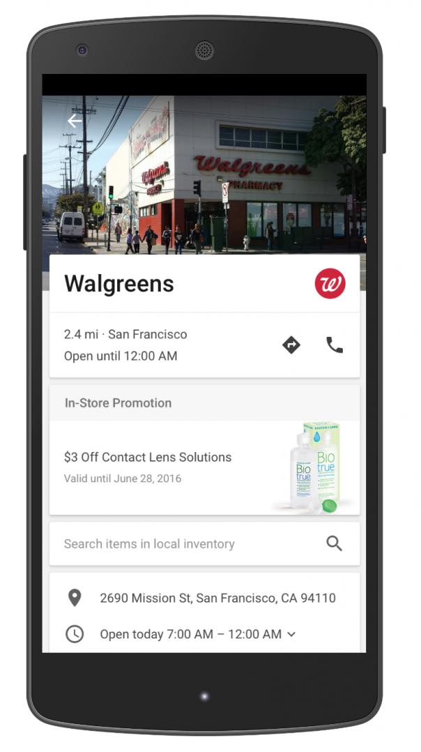 Google Maps fiche sponsorisée