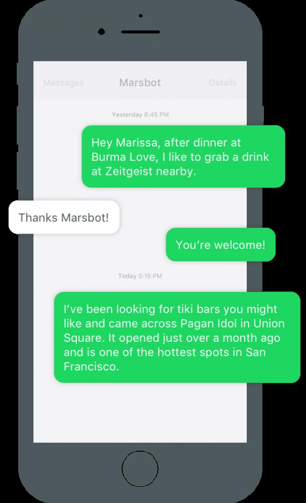 Foursquare : Marsbot