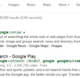 Google : Test des résultats de recherche en noir