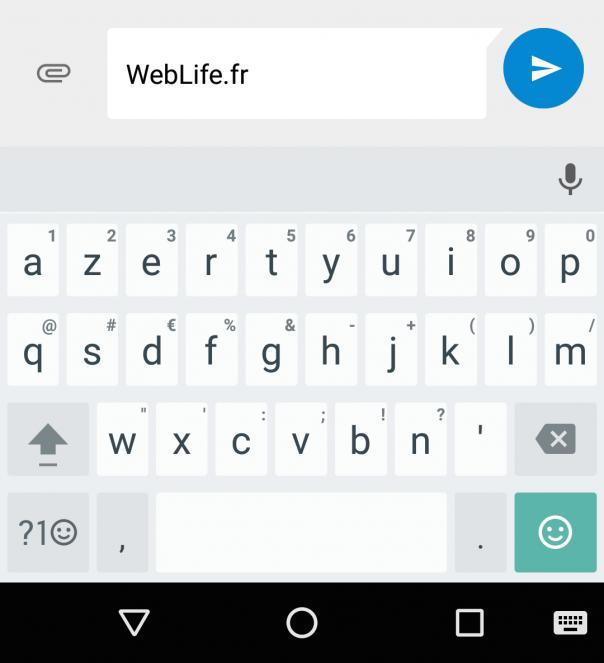 Clavier Google : Symboles & bordures des touches