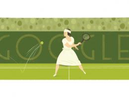 Google : Doodle Suzanne Lenglen