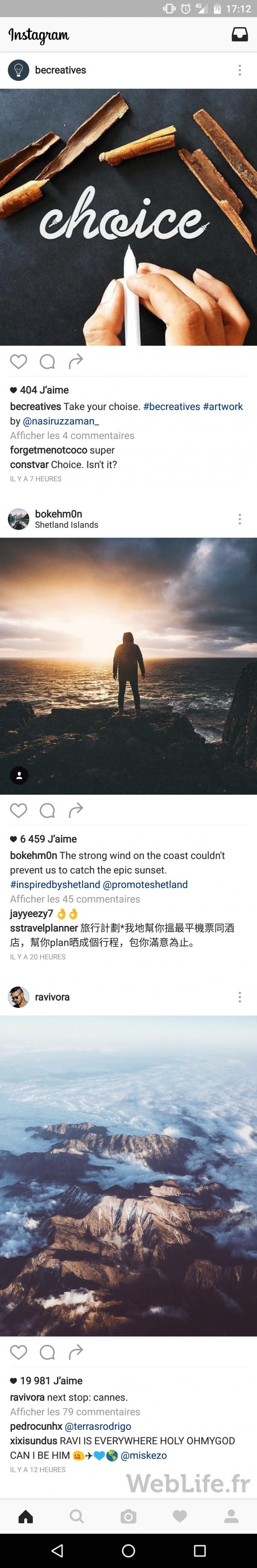 Instagram : Timeline & algorithme