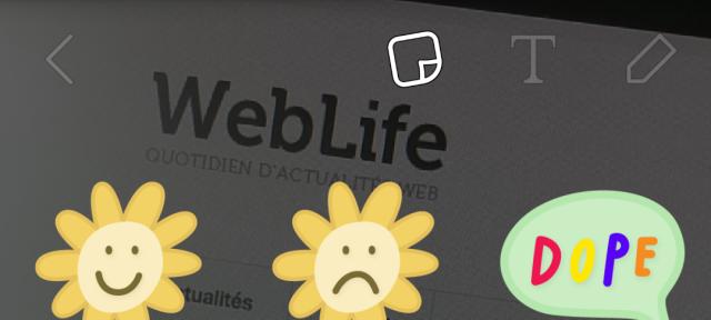 Snapchat : Stickers